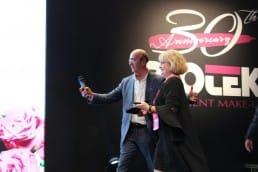 Massimo Froio y Mar Díaz en Milán en el 30 aniversario de Biotek Permanent Make Up